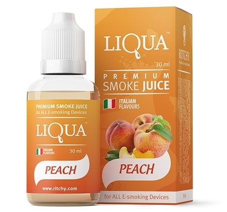 LIQUA PEACH 30 ml - 9 mg/ml - nicotina medio - bajo