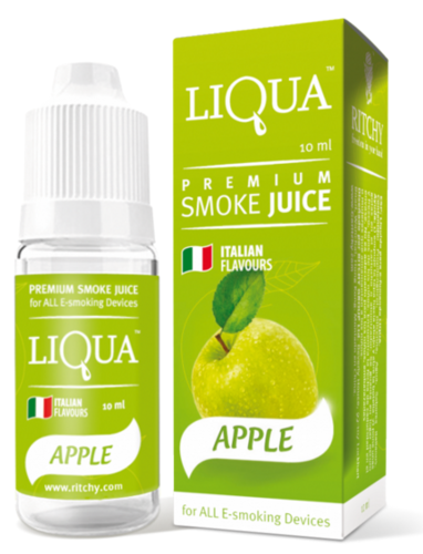 LIQUA APPLE 10 ml - 18 mg/ml - nicotina medio - alto.