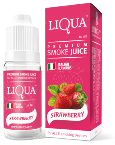 LIQUA STRAWBERRY 10 ml - 18 mg/ml - nicotina medio - alto.