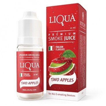 LIQUA TWO APPLES 10 ml - 6 mg/ml - bajo en nicotina.